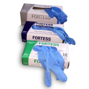 Перчатки Fortess латексные и нитриловые